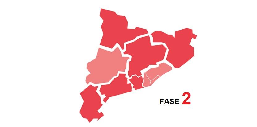 Comunicat 14 / 2020 –  Regió Sanitària Central, Girona i àrees de Garraf i Alt Penedès a Fase 2