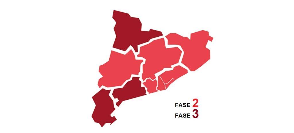 Comunicat 17 / 2020 – Progressió a fase 2 i 3 de les regions sanitàries. Flexibilització de l'activitat esportiva.