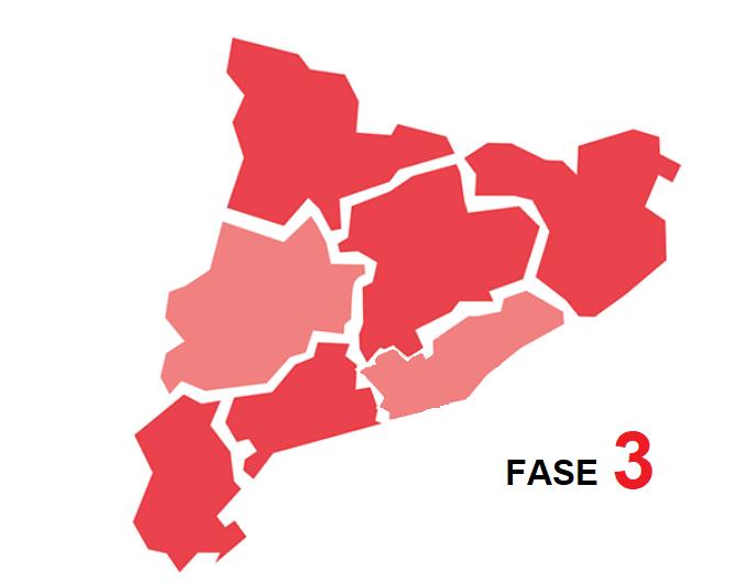 Comunicat 18 / 2020 – Progressió a Fase 3 de les regions sanitàries Catalunya Central i Girona.
