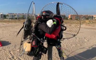De mar a mar en un dia: dos catalans recorren 440km d'un vol transibèric en poc més de 7 hores